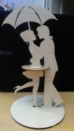 دانلود فایل اماده لیزر برش استند دستمال کاغذی رومیزی به شکل رقص زوج عاشقانه با فرمت dxf 16